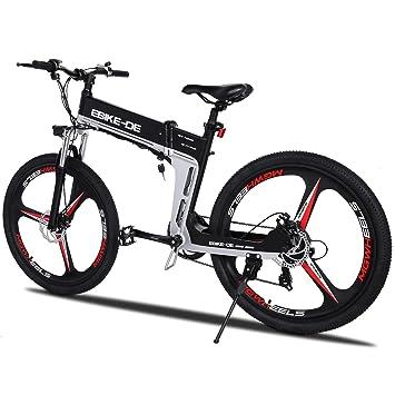 97e9f631e61 Beauty Talk 26-28 inch Electric Bicycle Mountain Bike E-bike 7-Speed 25  km/h 250 W Folding Trekking Double Disc Brakes 36 V 8 A (Bearings):  Amazon.co.uk: ...