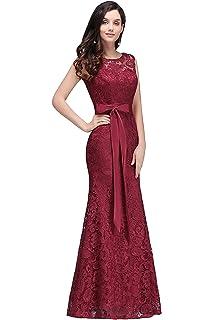 ec093f0408 MisShow Robe Femme Elégante de Demoiselle d'honneur pour Mariage Soirée  Moulante Sirène Longue avec
