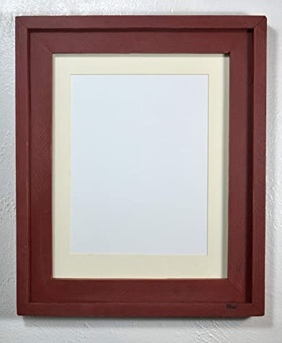 Amazoncom Distressed Picture Frame 85x11 Off White Mat Recycled