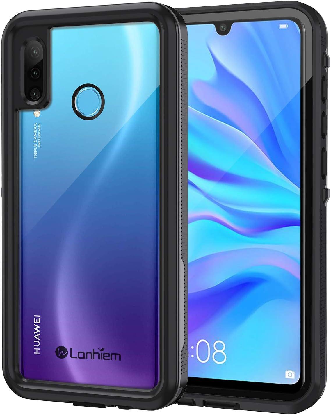 Lanhiem Funda Impermeable Huawei P30 Lite, Carcasa Resistente Al Agua IP68 Certificado [Protección de 360 Grados], Carcasa para Huawei P30 Lite con