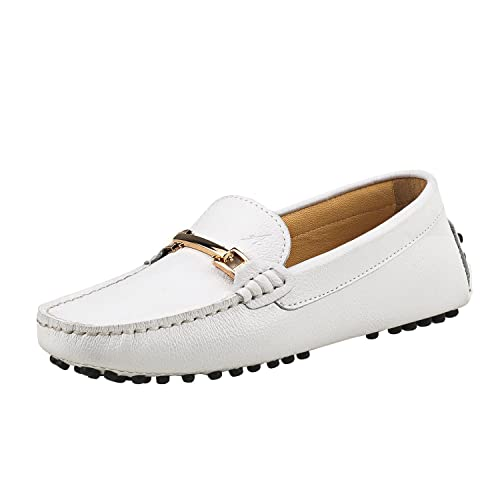Shenduo Zapatos de cuero - Mocasines cómodos con cordones de moda para mujer D7067: Amazon.es: Zapatos y complementos