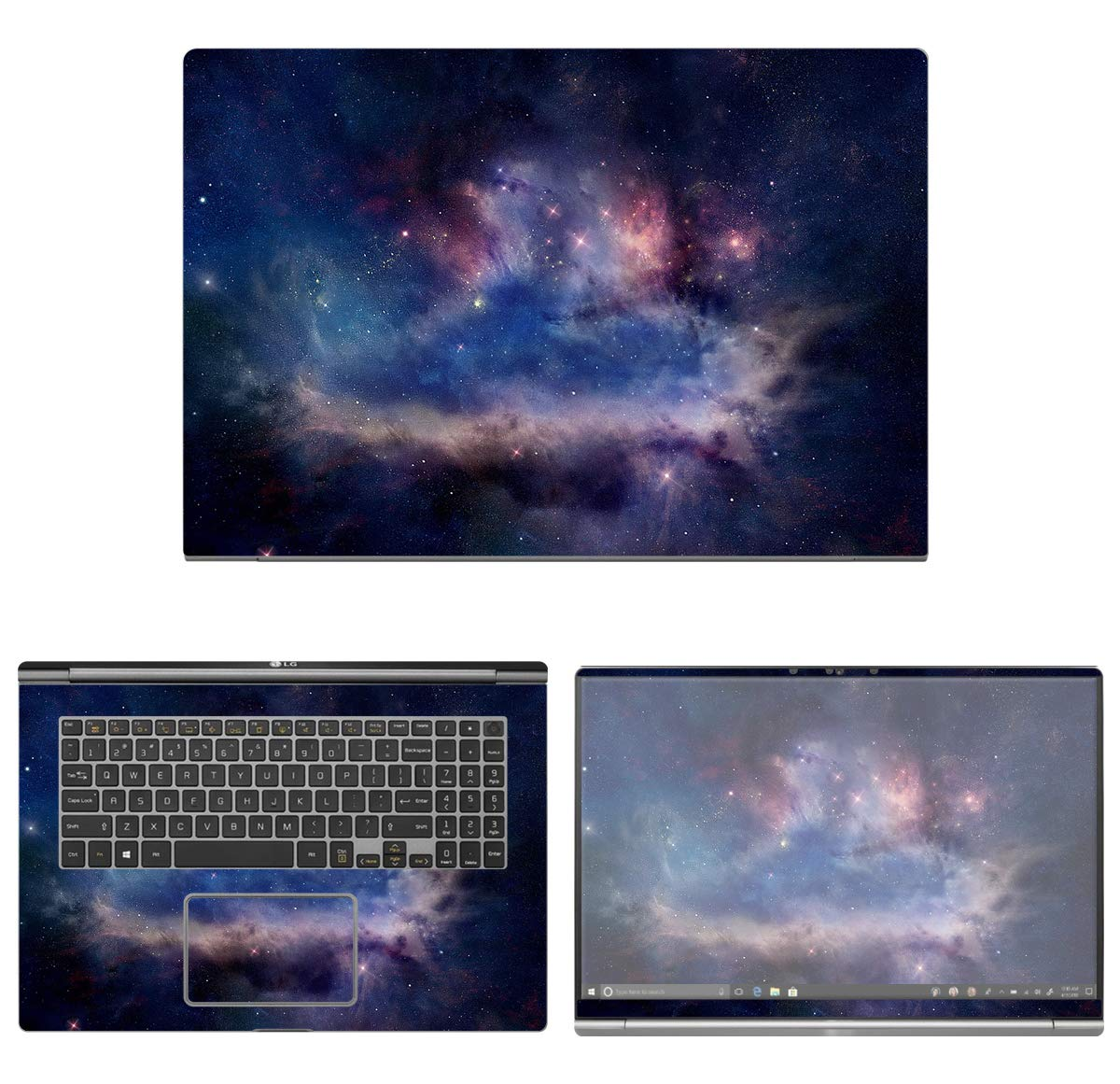 decalrus - Protective Decal Space Skin Sticker for LG Gram 17Z990 (17.3'' Screen) case Cover wrap LGgram17_17Z990-208