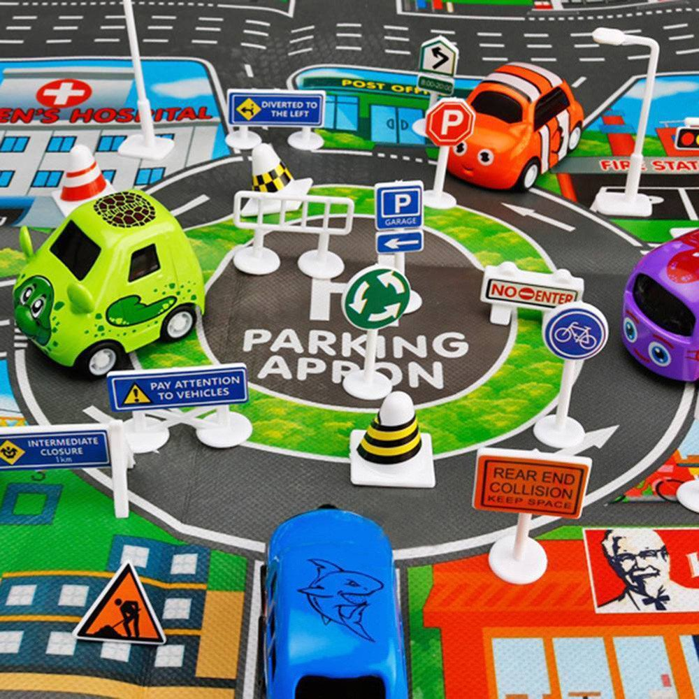 Wenini 28 Pcs Traffic Road Signs Educational Toys, Car Toy Accessories Traffic Road Signs Kids Children Play Learn Toy Game (A) by Wenini (Image #3)
