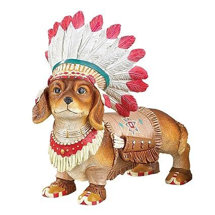 Native American Pet Southwest Garden Statues Décor, Dog