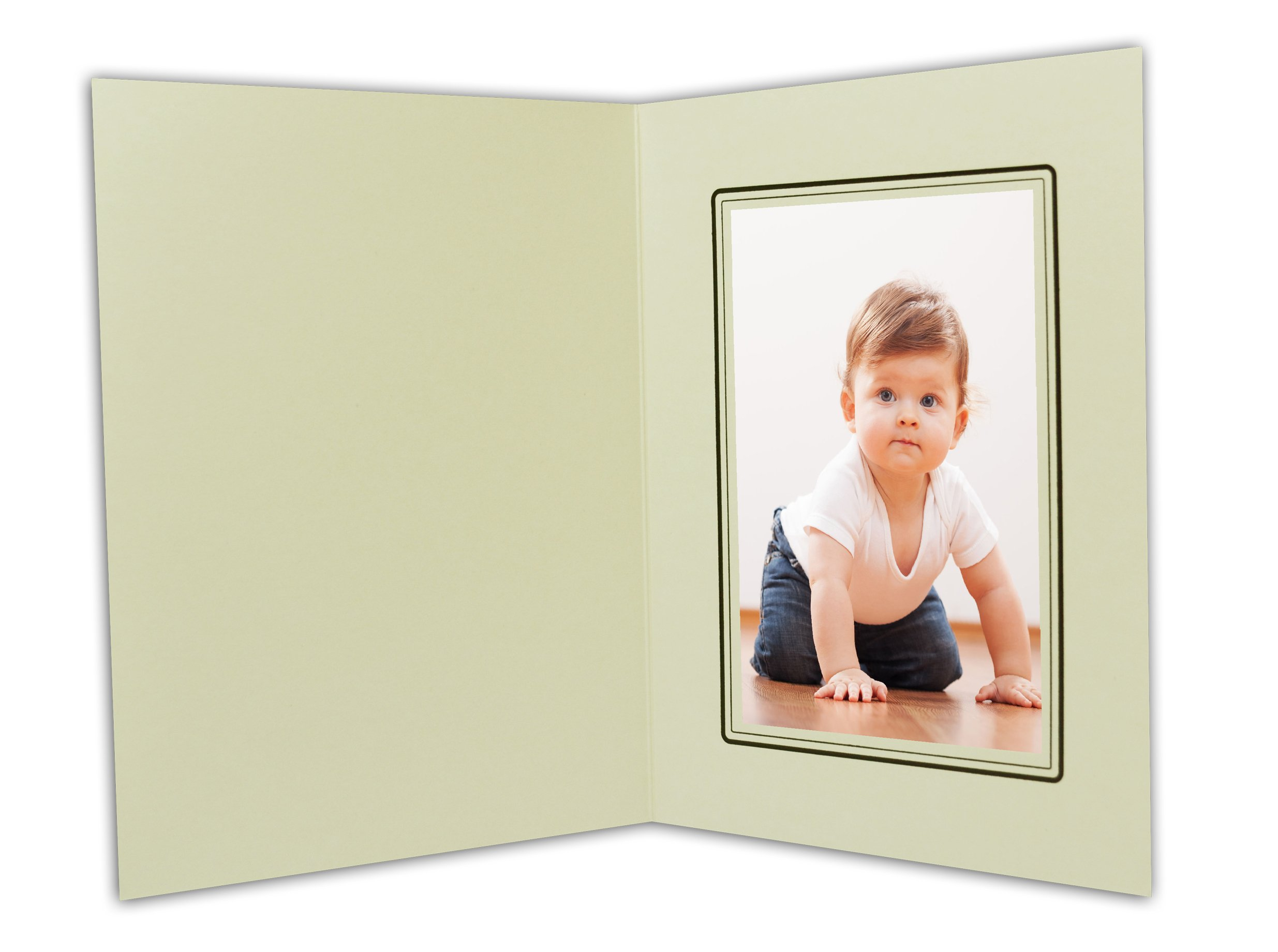 Golden State Art, Cardboard Photo Folder For a 4x6 Photo (Pack of 100) GS001-S Ivory Color by Golden State Art