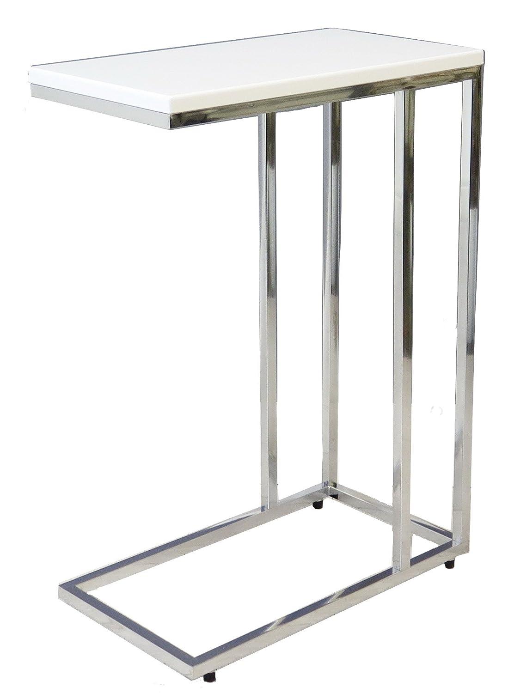 ASPECT Bellini Sofa Side End Laptop Table, Wood, Black, 46 x 25.5 x 63.5 cm ST38BK