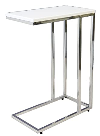 Aspect Bellini Sofa - Mesa Auxiliar para Ordenador portátil, Madera, Color Blanco, 46 x 25,5 x 63,5 cm: Amazon.es: Hogar