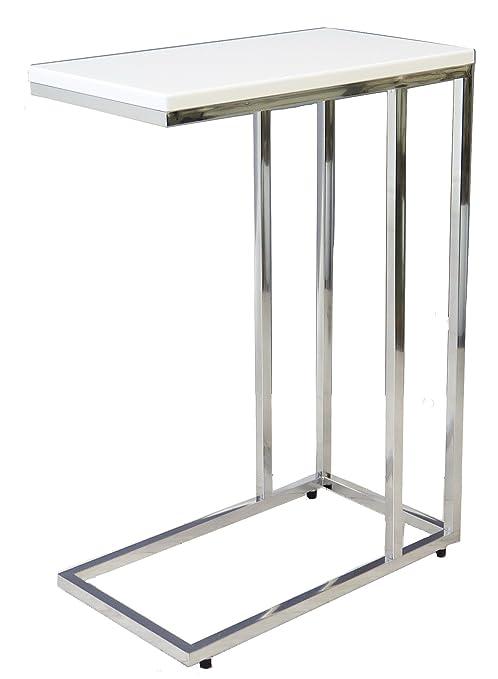 Aspect Bellini Sofa - Mesa Auxiliar para Ordenador portátil, Madera, Color Blanco, 46