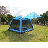 Hasika All-Weather Diversified 8 x 8 Instant Screened Canopy(not include outside poles)
