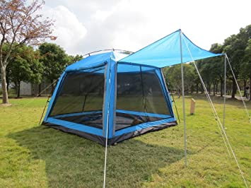 Hasika All Weather Diversified 8 X 8 Instant Screened Canopy Blue(not  Include