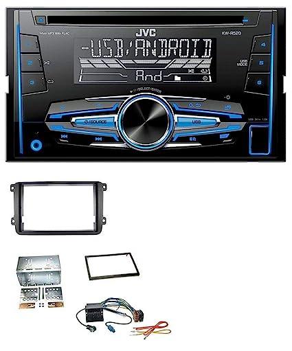 Jvc R520 MP3 USB CD 2DIN AUX Radio de coche para Skoda Fabia Octavia II Rapid