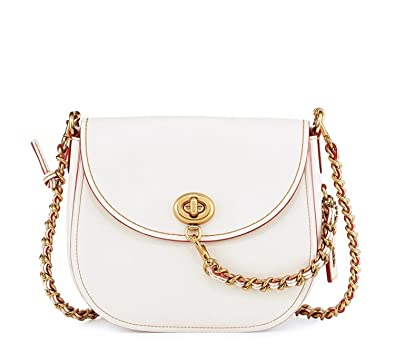f4740323d7 Coach 1941 Leather Turn-Lock Saddle Bag in Chalk Style 59241 $495 ...