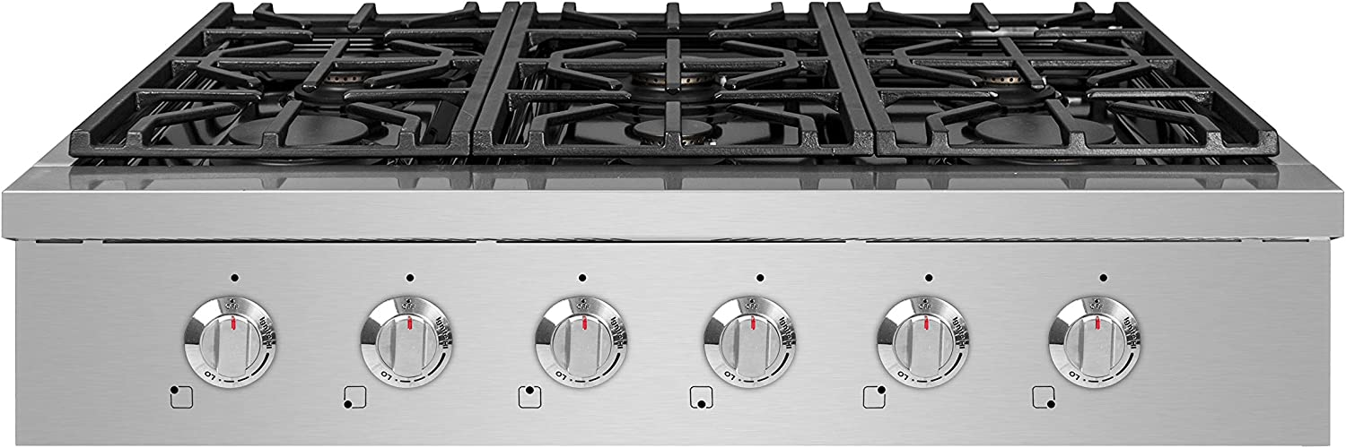 Stainless Steel NXR SCT3611 36 Pro-Style Natural Gas Cooktop