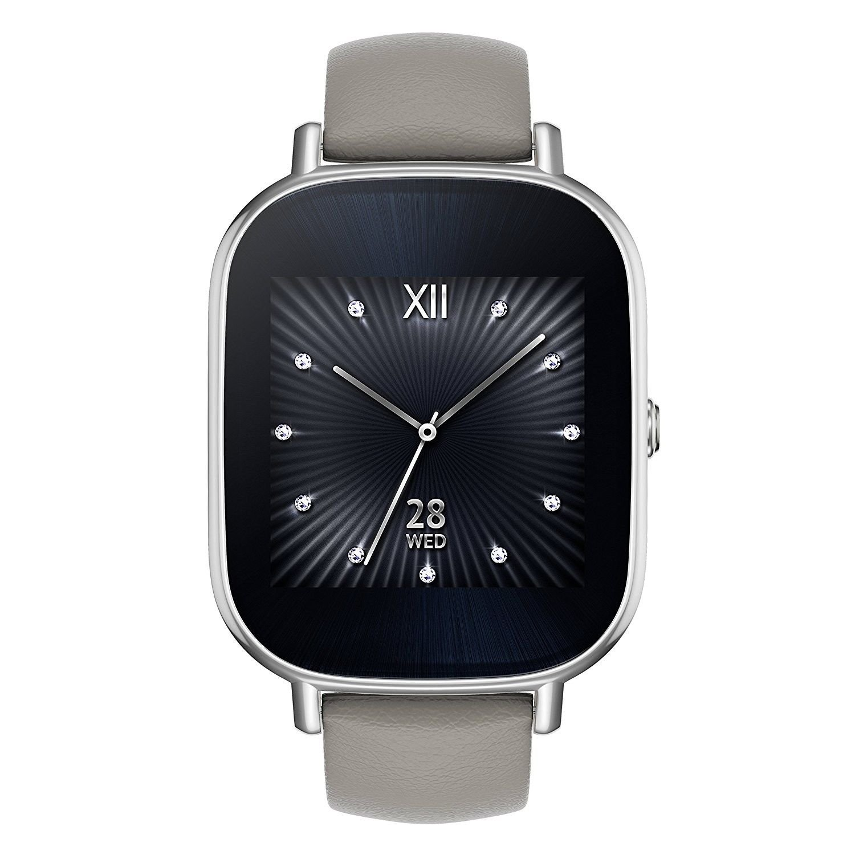 Asus ZenWatch 2 WI502Q Smartwatch Silver/Khaki (Certified Refurbished)