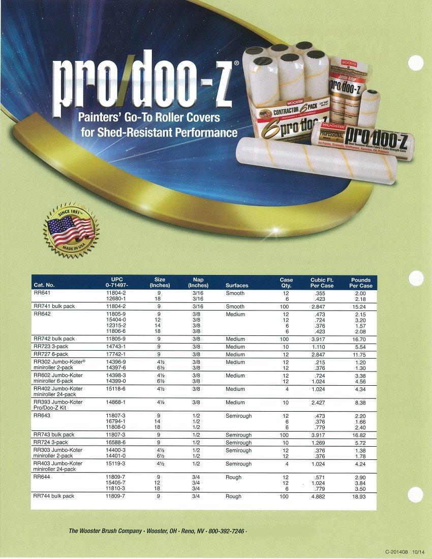 Wooster Brush RR403-4-1/2 Jumbo-Koter Pro/Doo-Z Roller 1/2-Inch Nap, 24-Pack, 4-1/2-Inch