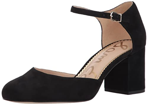 Sam Edelman Women's Clover Pump,Black Suede,8 Medium US