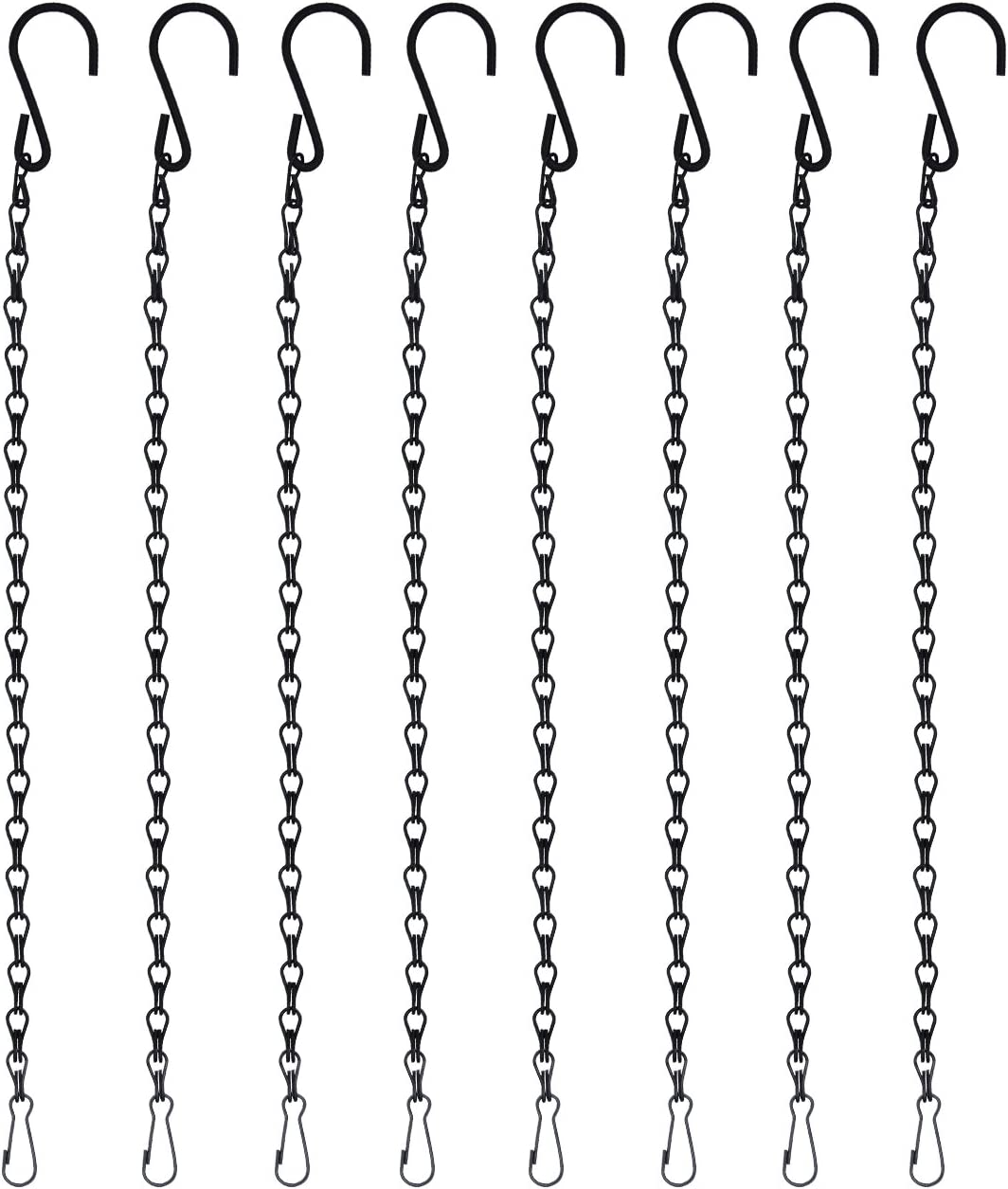 B074QK1JJN 8pcs 19.7 inch/ 50cm Black Chains Flower Pot Basket Replacement Chain Hanger for Bird Feeders, Planters, Lanterns and Ornaments 71curoWIRdL