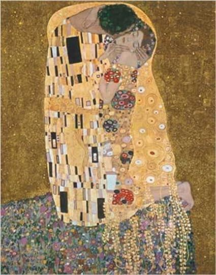 c0f9b1decb0 Amazon.com  The Kiss (Der Kuss) by Gustav Klimt. Art Print. Poster (20x16)   Framed Vintage Paintings The Kiss  Posters   Prints
