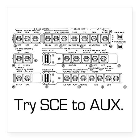 215139d4 CafePress - Try Sce To Aux. Sticker - Square Bumper Sticker Car Decal,  3