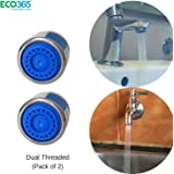 Neosystek Water Saving Aerator With Dual Threaded Shell: 3 Lpm Shower Flow Tap Filter Pack Of 2