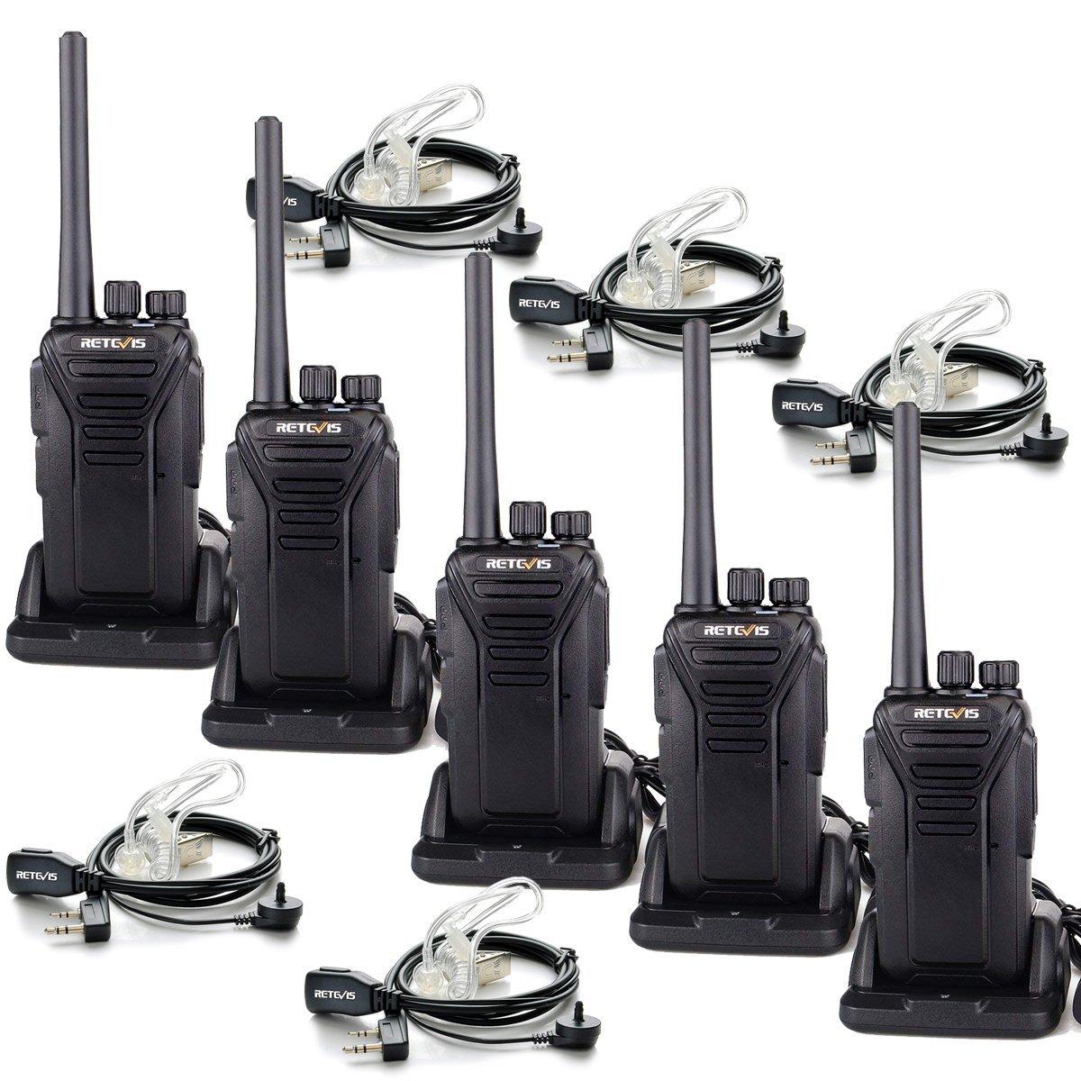 Retevis RT27 2 Way Radios Rechargebale Walkie Talkie Long Range with Covert Air Acoustic Earpiece 5 Pack