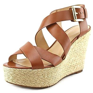 a54d341c7b Michael Kors Michael Women's Celia Mid Wedge, Luggage Vachetta, Size 5.0  US: Amazon.co.uk: Shoes & Bags