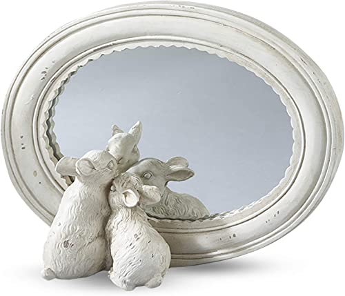 Ivory Oval Bunny Mirror – 4 x6