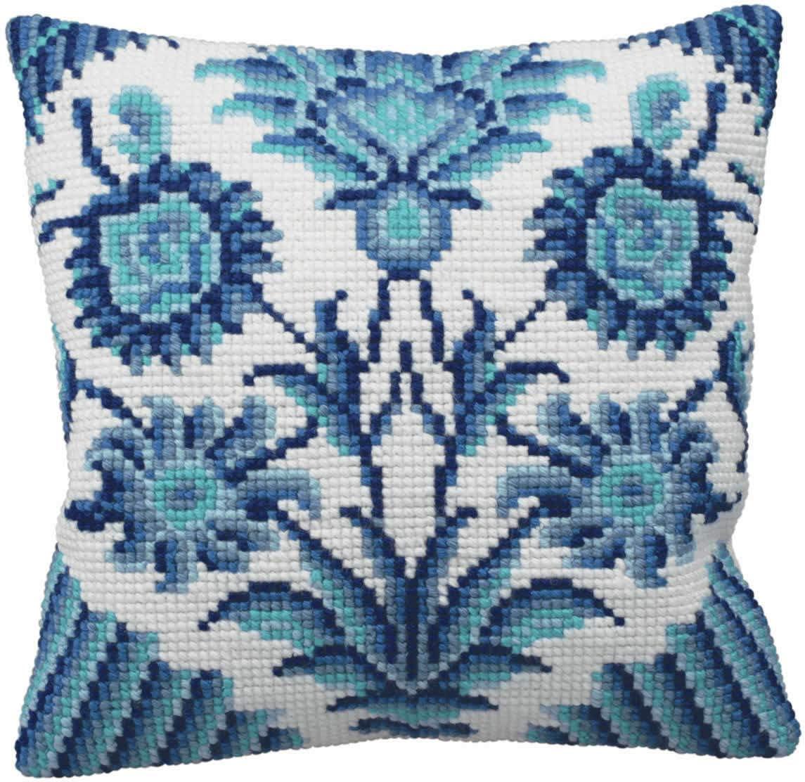 Collection D/´Art Zelliges Droite Pillow Cross Stitch Kit-15-3//4 X15-3//4
