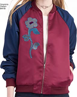 """product image for Simplicity Misses' Lined Bomber Jacket Art and Craft Sewing Template, 4""""/6""""/8""""/10""""/12"""""""