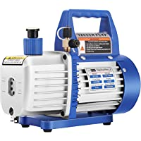 VIVOHOME 110V 1/4 HP 3.5 CFM Single Stage Rotary Vane Air Vacuum Pump with Oil Bottle ETL Listed