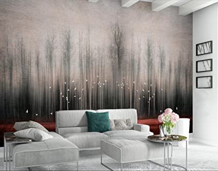 Wall Murals 3d Wallpaper Nordic Abstract Tree Forest Bird Tv