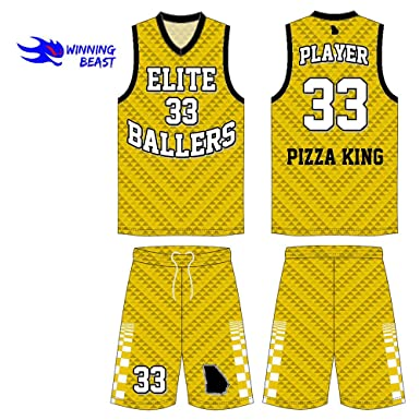 285c8110f Winning Beast Basketball Uniforms in MOQ of 10 Sets - Style 509 Custom Made  in Full