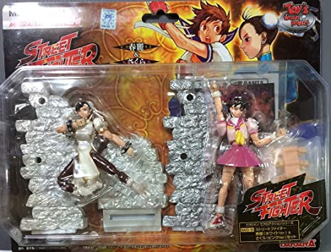 Microman Street Fighter Chun-Li (blanco ver.) Y Sakura (Pink ver