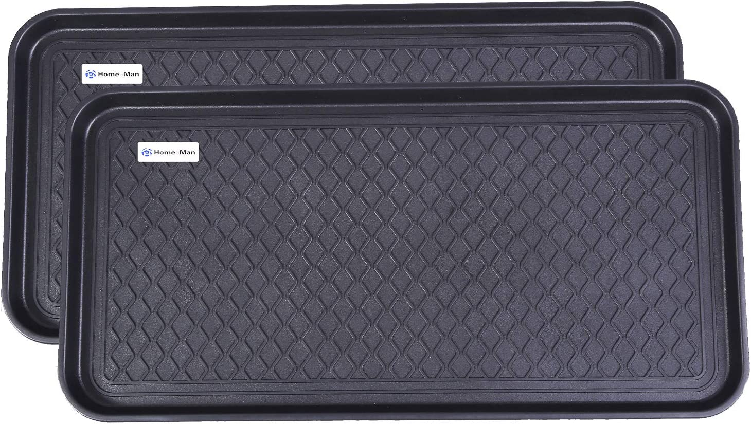 """Home-Man Multi-Purpose Boot Tray Mat,Shoe Tray Mat,Dog Feeding Tray,Waterproof Trays for Indoor and Outdoor Floor Protection,30"""" x 15""""/2 Pack"""