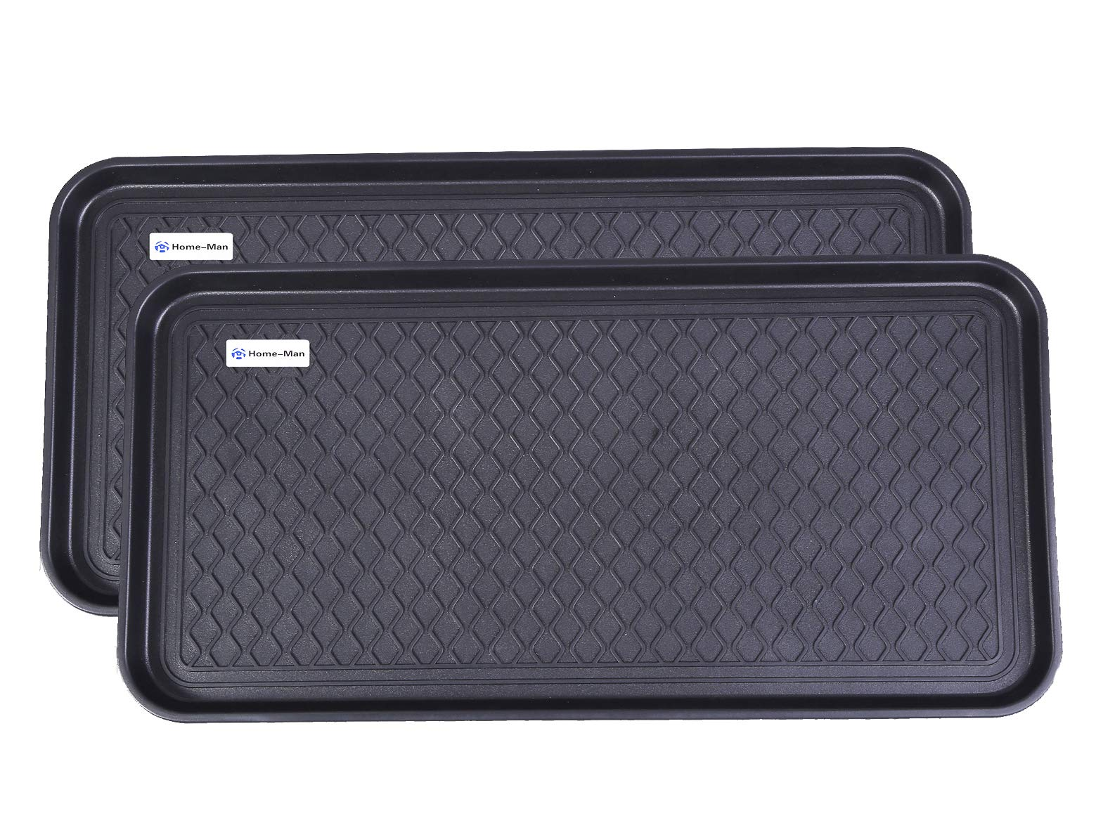 Home-Man Multi-Purpose Boot Tray Mat,Shoe Tray Mat,Dog Feeding Tray,Waterproof Trays for Indoor and Outdoor Floor Protection,30'' x 15''/2 Pack by Home-Man