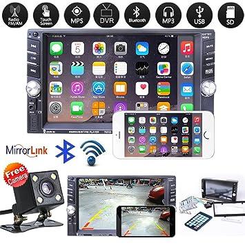 You May Car - Reproductor de Audio estéreo para Coche (2 DIN, MP5, Pantalla táctil HD de 7 Pulgadas, con Espejo retrovisor, conexión DVR): Amazon.es: Hogar