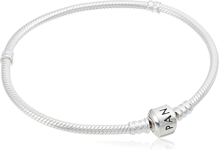 d3b9ffd98 PANDORA Women's Iconic Standard 925 Sterling Silver Charm Bracelet 590702HV