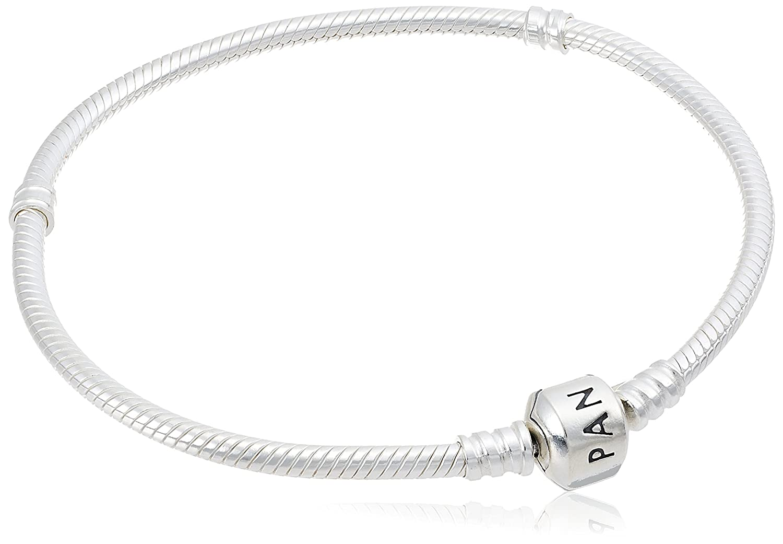 837390e03e8e3 PANDORA Women's Iconic Standard 925 Sterling Silver Charm Bracelet 590702HV