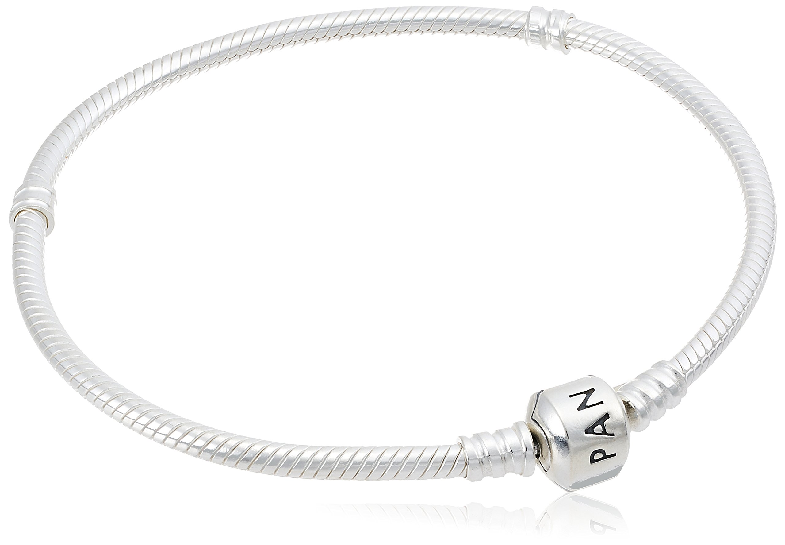 Pandora Women's Genuine Sterling 8.3 Bead Clasp Charm Bracelet 590702HV-21'', Silver