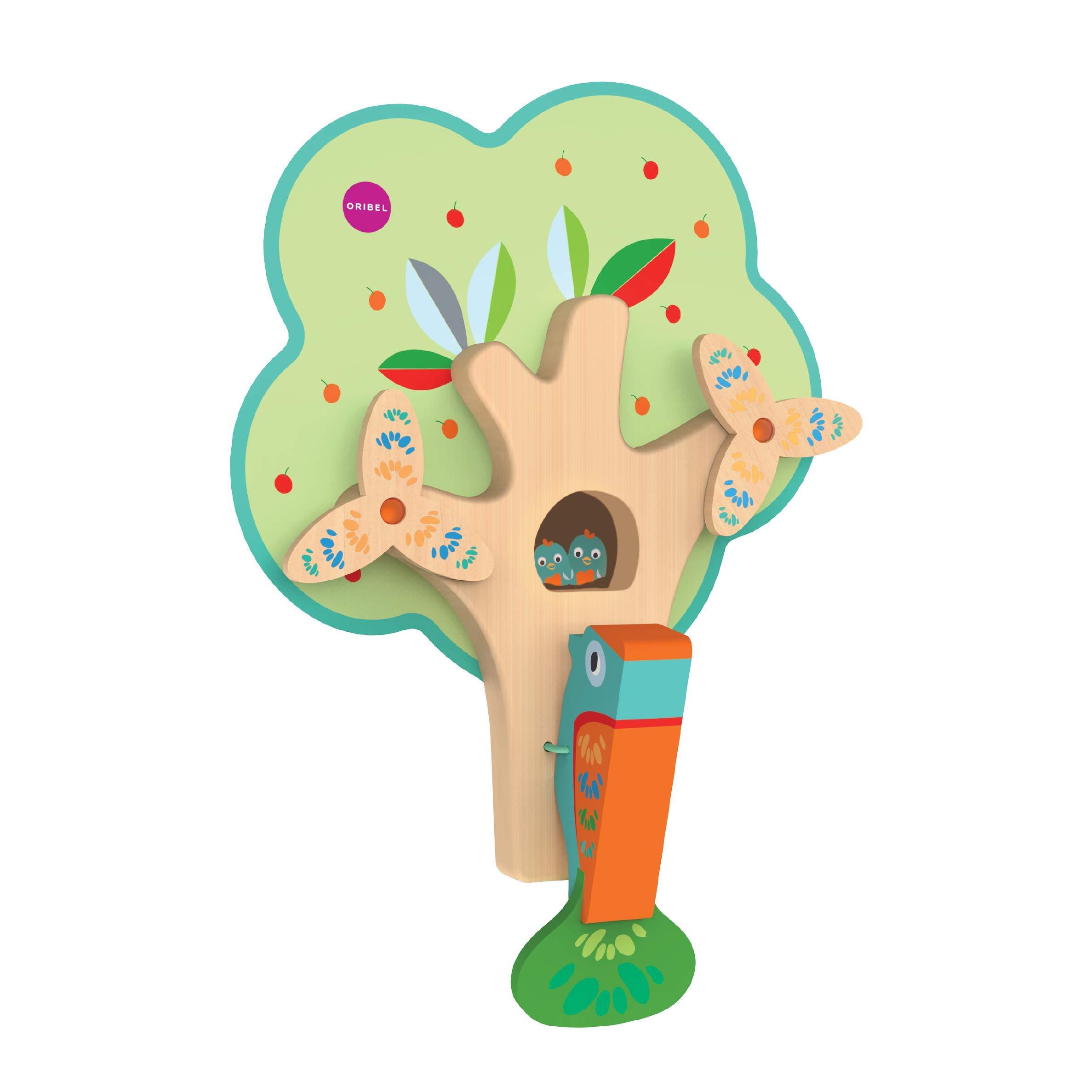 ORIBEL VertiPlay Wall Toys Play Wall Combo Set (Tree Top Adventure, Slidey Spidey, Woodpecker, Xylophone, Door Knocker) by ORIBEL (Image #5)