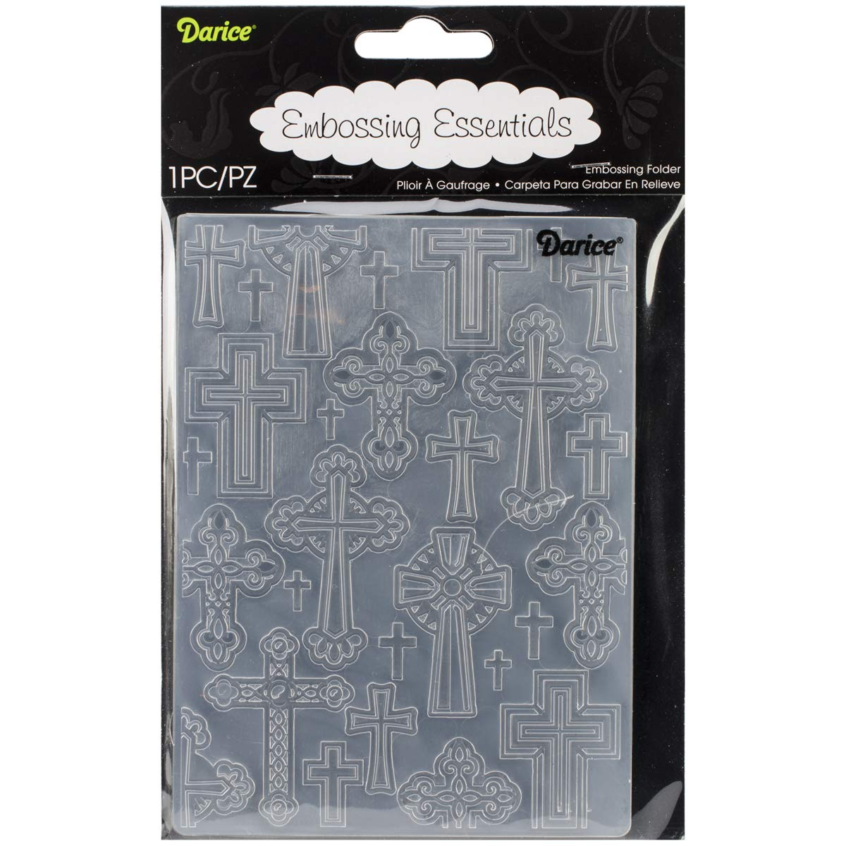 Embossing Folder Crosses 4.25 X 5.75 Inches (8 Pack)