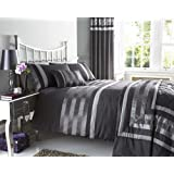 NEW CHARCOAL GREY PINTUCK DESIGNED BEDDING - MATCHING ITEMS AVAILABLE (king size duvet set)