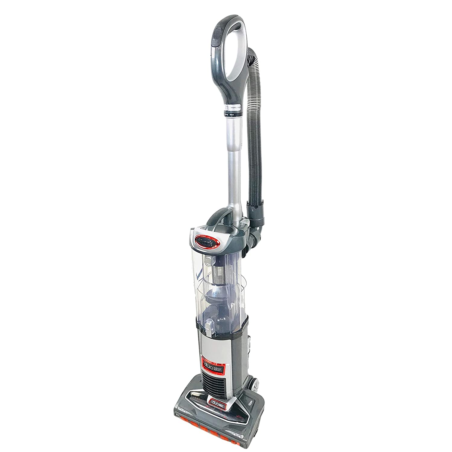 Shark DuoClean Technology Slim Upright Vacuum NV200Q HEPA Filter Powerful Lightweight with Advanced Swivel Steering, Flexi Crevice Tool and Under-Appliance Wand NV200QGR (Renewed) (Platinum)