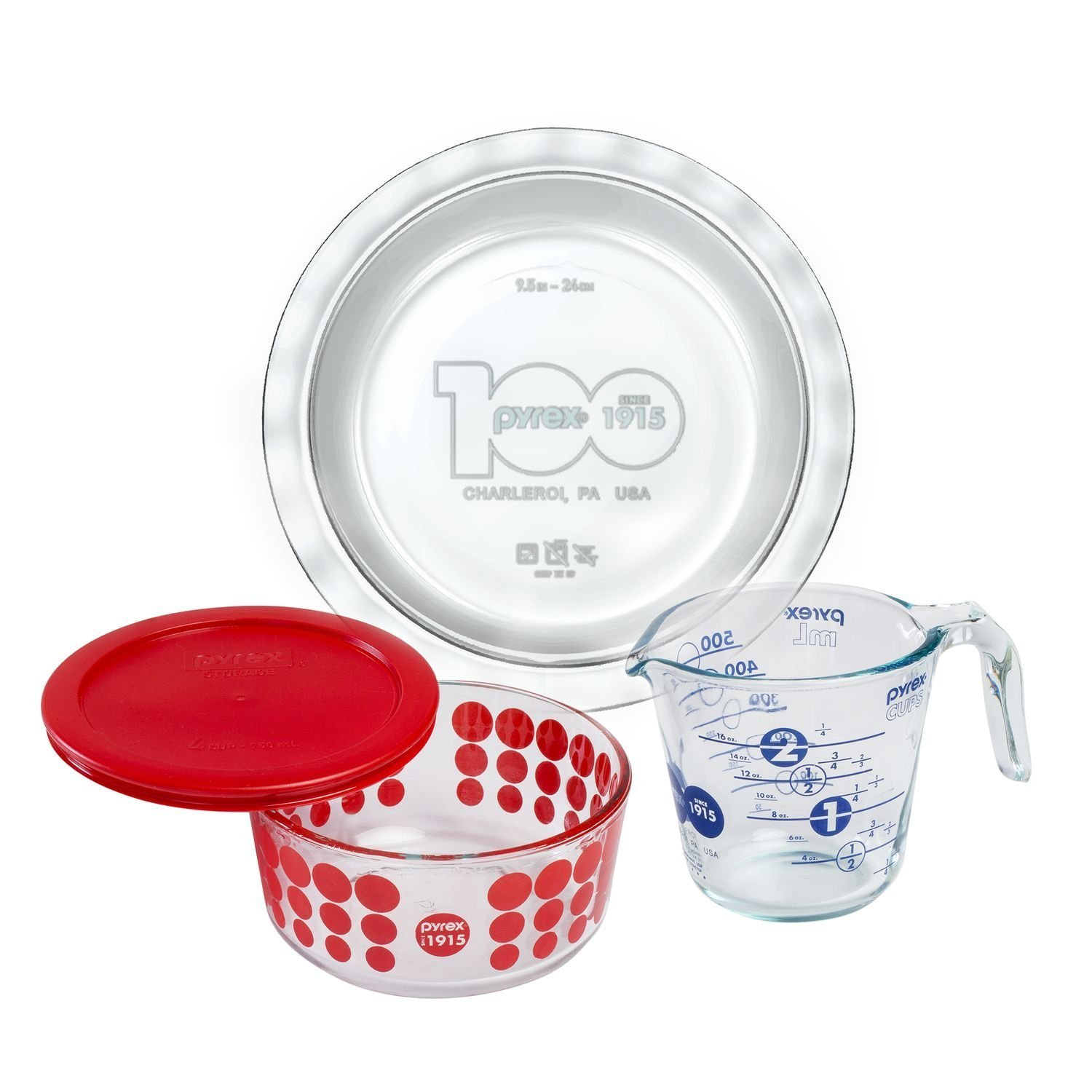 Pyrex 100 100th Anniversary 4 Piece Centennial Collector Set by Pyrex World Kitchen 1121143