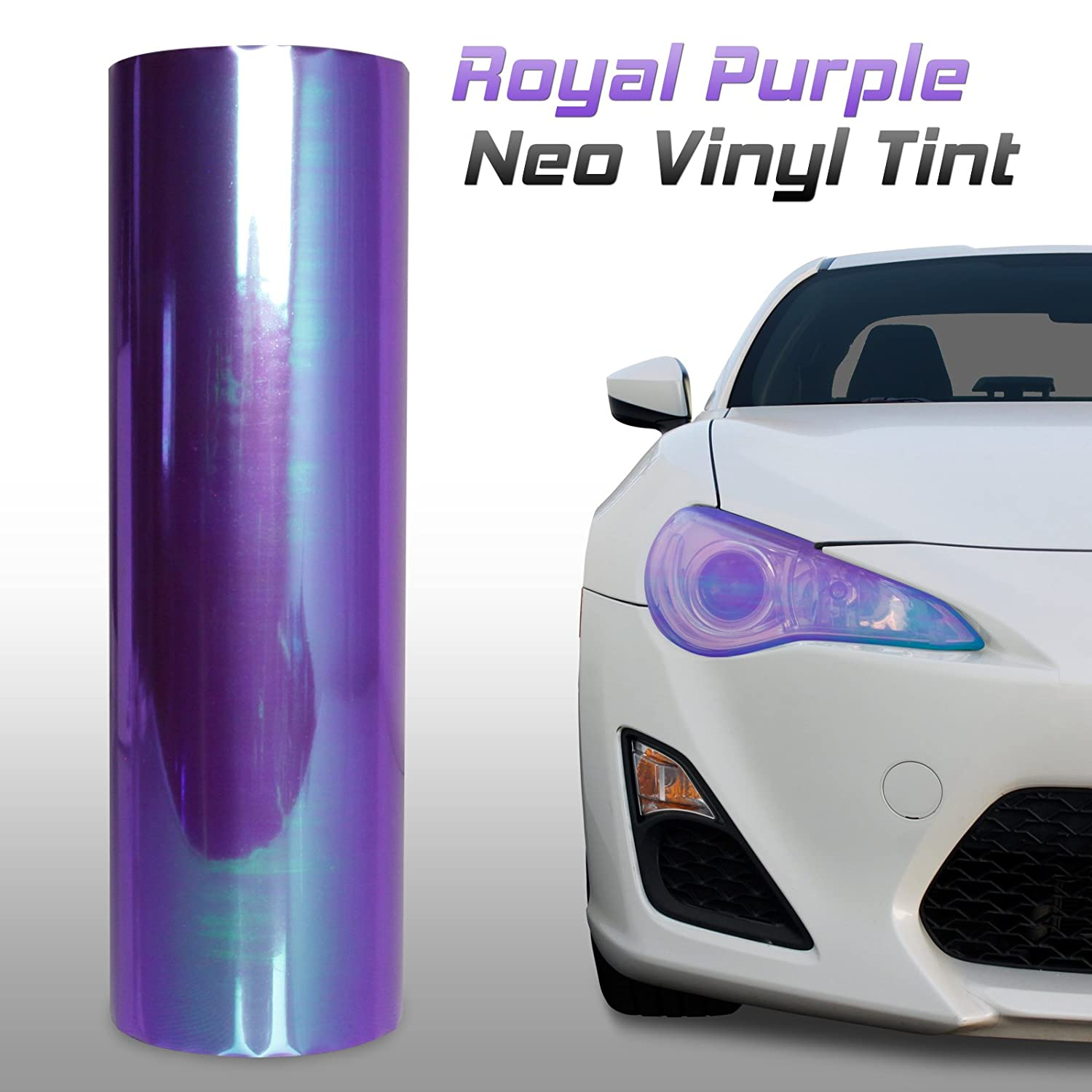 Optix Chameleon Neo Chrome Headlight Fog Light Taillight Vinyl Tint Film Purple 12x60 in 1x5 Ft Project RA