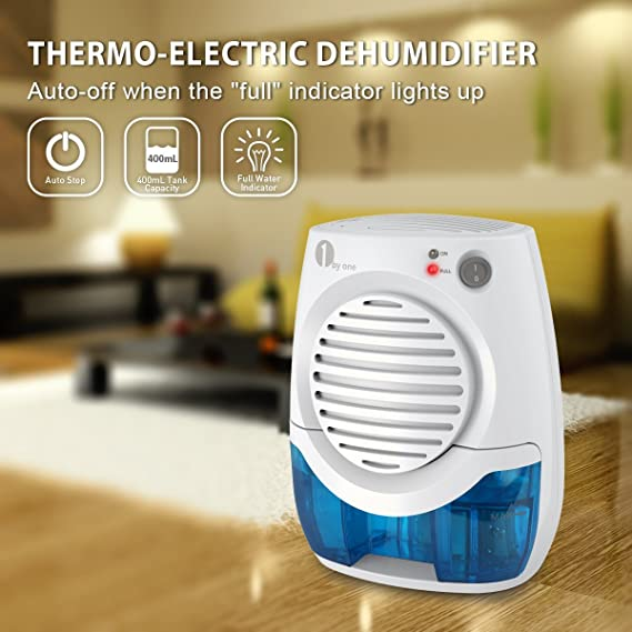 400ml Electric Mini Dehumidifier Auto Shut Off