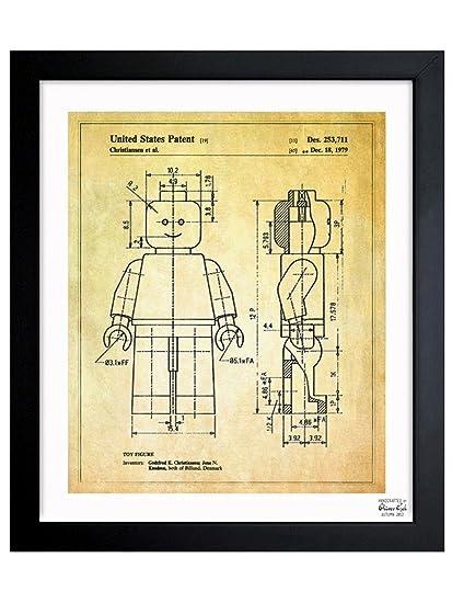 Amazon.com: \'Lego Toy Figure, 1979\' Vintage Framed Wall Art Print ...