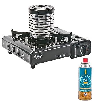 Bright Spark® Hornillo de gas + Calefacción accesorio + Butano 2 kW Ideal como Vorzelt