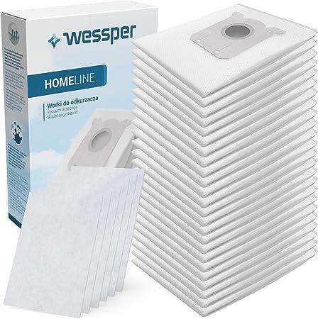 Wessper Pack con 24 Bolsas y 6 Filtros para Aspiradores AEG, Electrolux y Philips: Amazon.es: Hogar