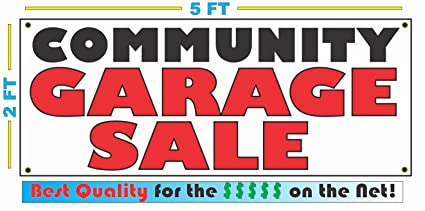Amazon Com Community Garage Sale Banner Sign Office Products
